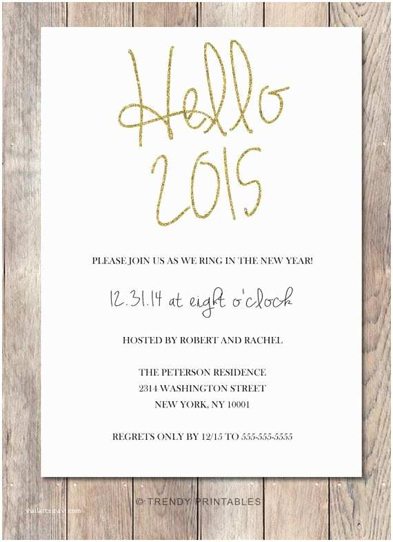Ring In the New Year Wedding Invite New Years Eve Party Invitation New Years Invitation
