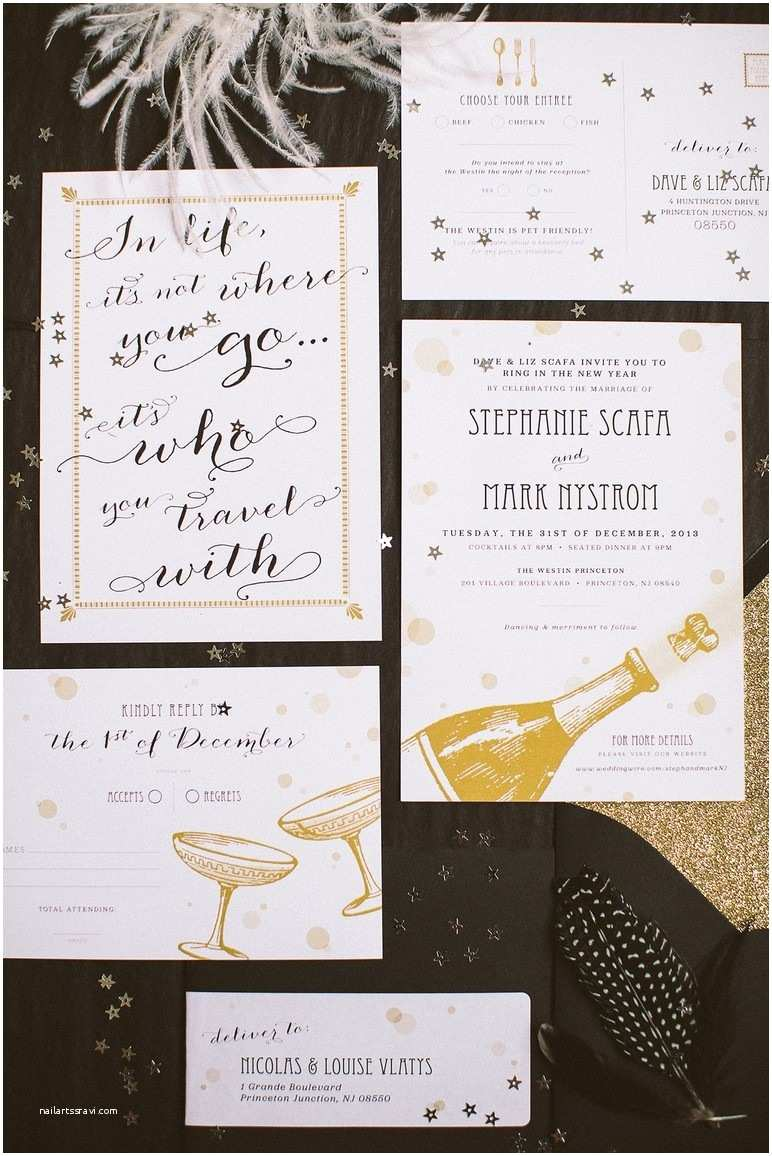 Ring In the New Year Wedding Invite New Years Eve Wedding Invitations Uk