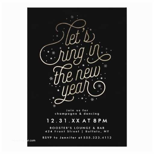 Ring In the New Year Wedding Invite Ring In the New Year New Year S Eve Party Invite Ladyprints