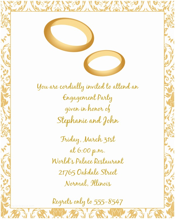 Ring In the New Year Wedding Invite Wedding Rings Engagement Invitations