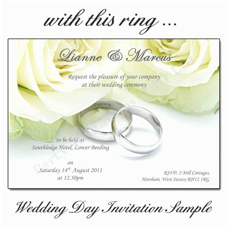 Ring In the New Year Wedding Invite with This Ring Wedding Day Invitations