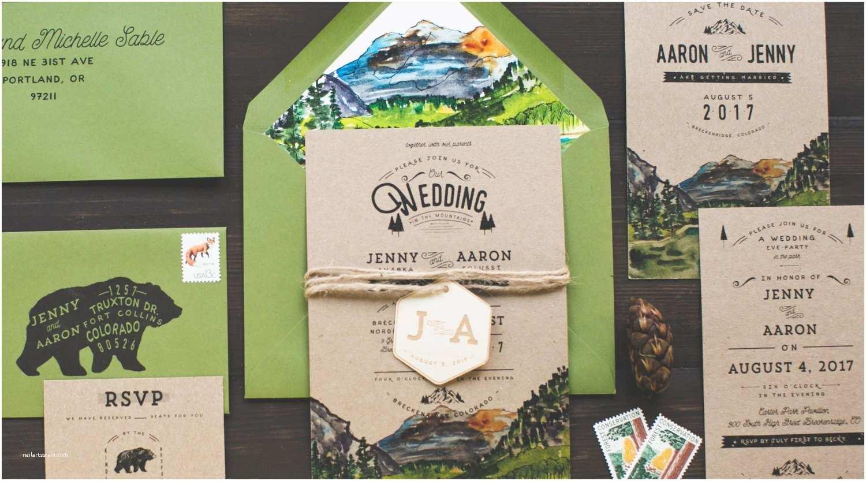 Rocky Mountain Wedding Invitations Colorado Rocky Mountains Watercolor Wedding Invitation