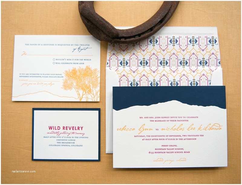 Rocky Mountain Wedding Invitations Rebecca Nick S Rocky Mountain Colorado Wedding Invitations
