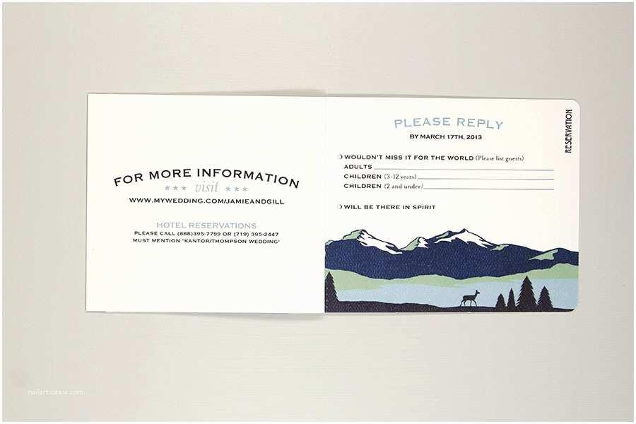 Rocky Mountain Wedding Invitations Rocky Mountain Booklet Livret Wedding Invitation – Rustic – Nesting Project