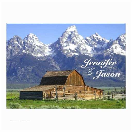 Rocky Mountain Wedding Invitations Rustic Barn Rocky Mountain Wedding Invitations