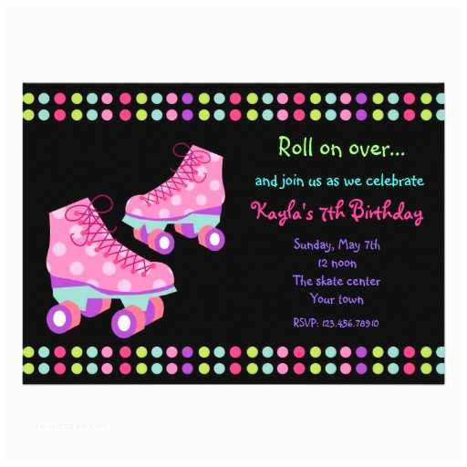 Roller Skating Party Invitations 500 Roller Skate Invitations Roller Skate Announcements