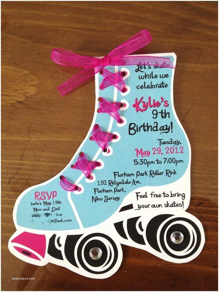 Roller Skating Party Invitations Roller Skate Birthday Invites by Lilli Design L L C New
