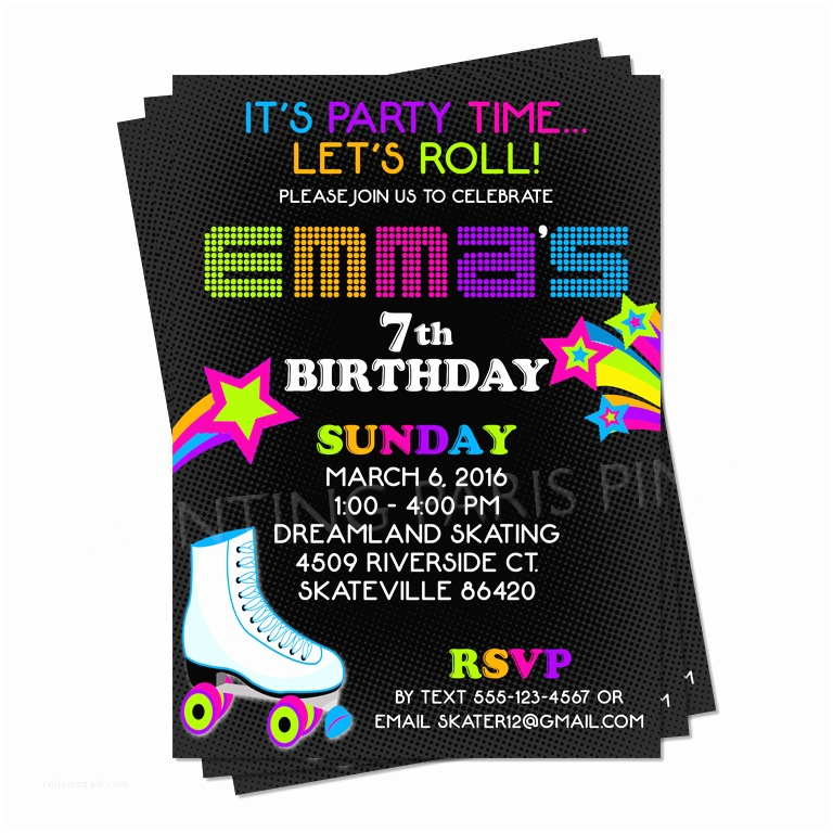 Roller Skating Party Invitations Roller Skating Invitation Party Ideas