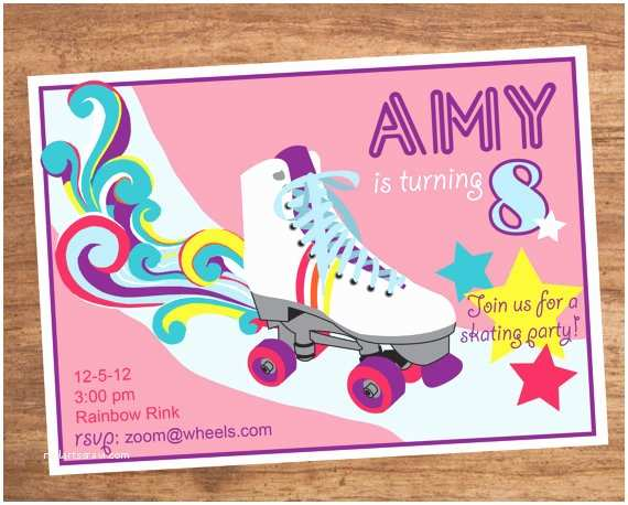 Roller Skating Party Invitations Roller Skating Party Invitation