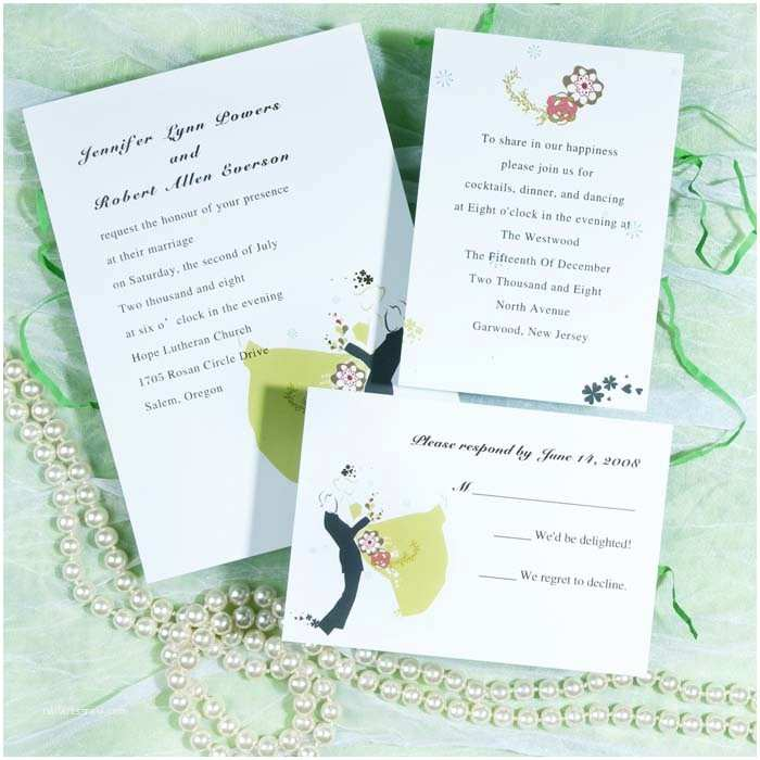 Romantic Wedding Invitations Romantic Wedding Dance Invitations Ewi181 as Low as $0 94