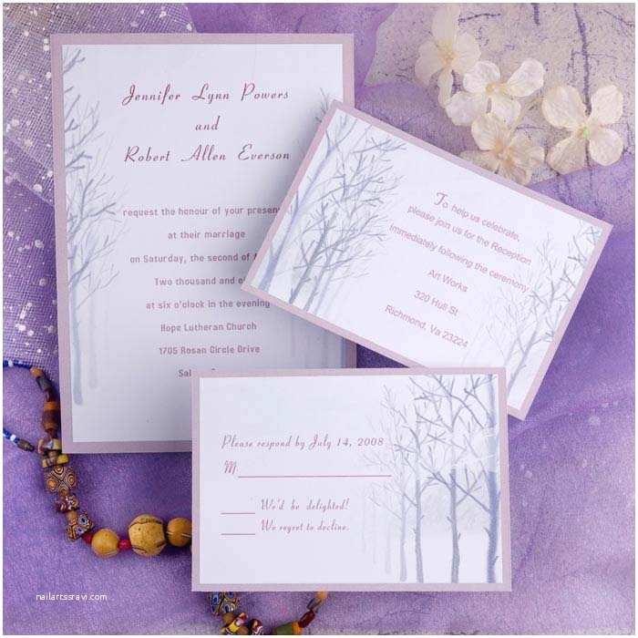 Romantic Wedding Invitations Simple Romantic Winter Tree Wedding Invitations Ewi139 as