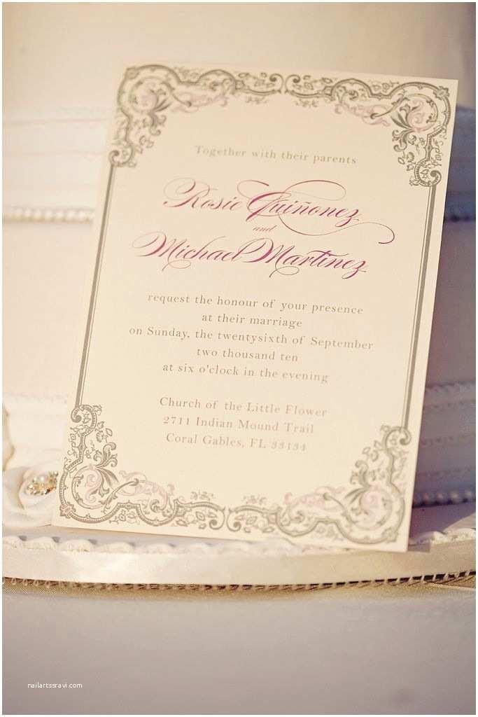 Romantic Wedding Invitations Vintage Romance Wedding Invitation