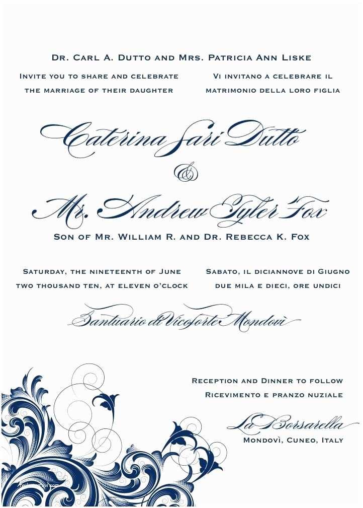 Romantic Wedding Invitations Wording Examples Bilingual Letterpress Wedding Invitation Design Rana 1