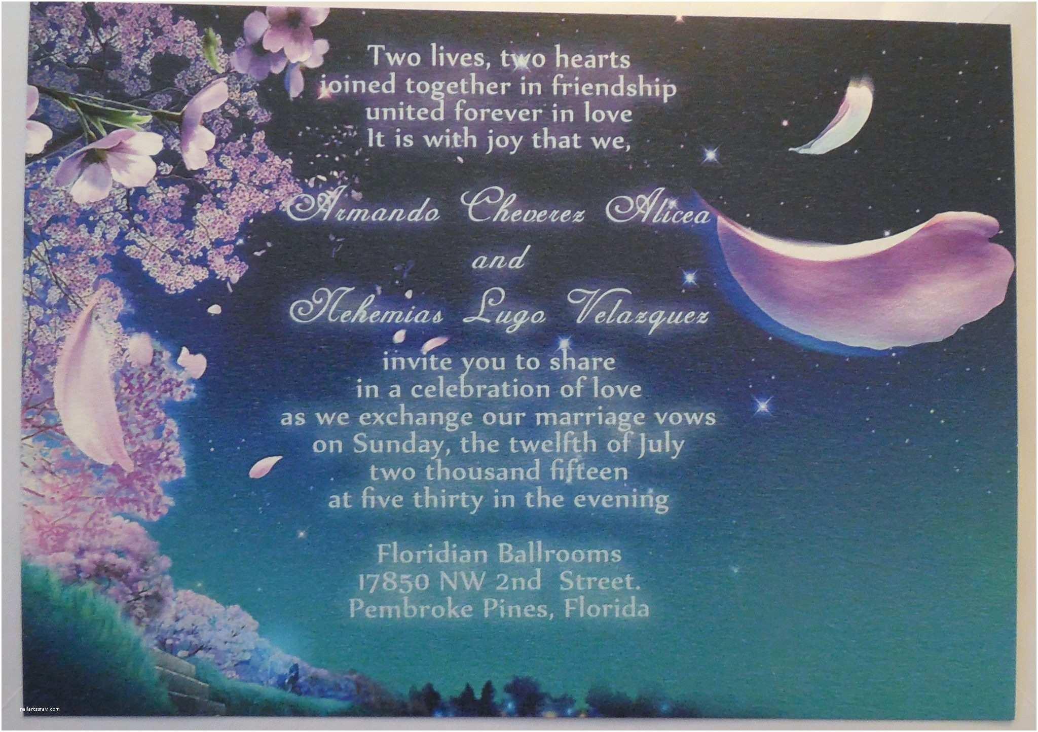 Romantic Wedding Invitations Wording Examples Fancy Romantic Fairytale Floral Blue Wedding Invitations