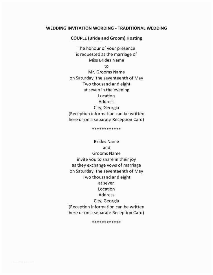 Romantic Wedding Invitations Wording Examples Older Couple Wedding Invitation Wording