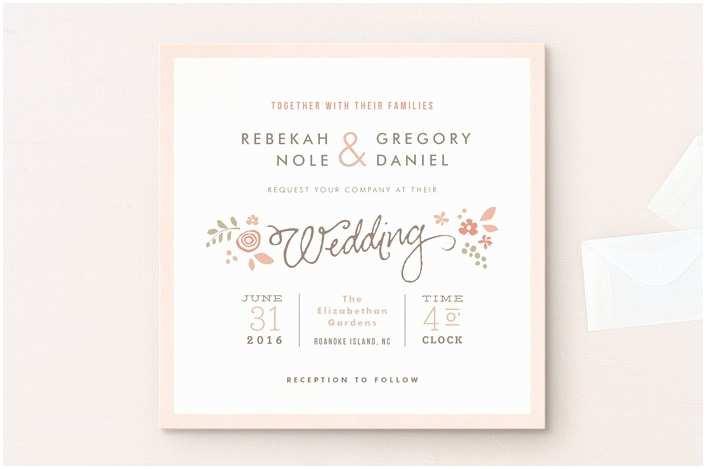Romantic Wedding Invitations Wording Examples Wedding Invitation Wording that Won T Make You Barf