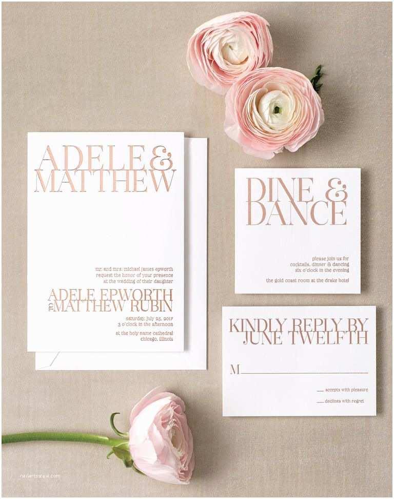 Rose Gold Foil Wedding Invitations Fabulous Gold Foil Invitations
