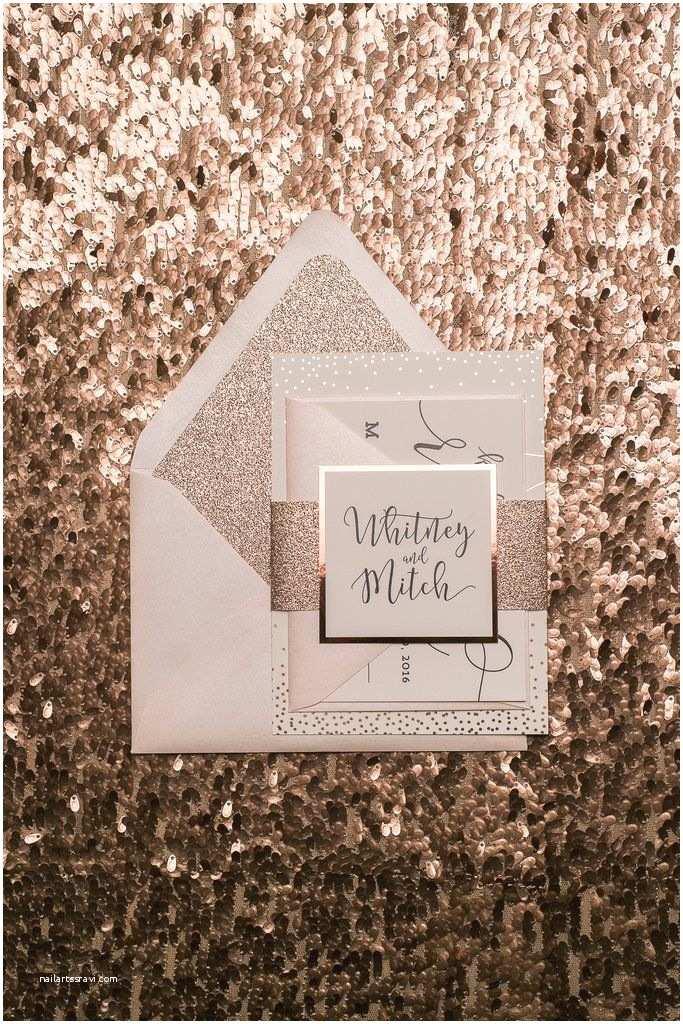 Rose Gold Wedding Invitations Best 25 Glitter Wedding Invitations Ideas On Pinterest