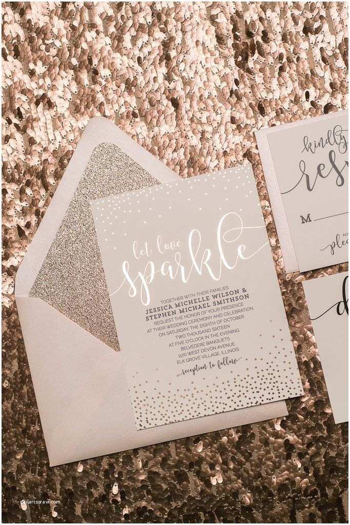 Rose Gold Wedding Invitations Best 25 Sparkle Wedding Ideas On Pinterest
