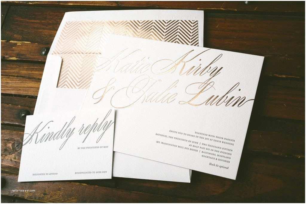 Rose Gold Wedding Invitations Florian Script Rose Gold Wedding Invitations Bella Figura