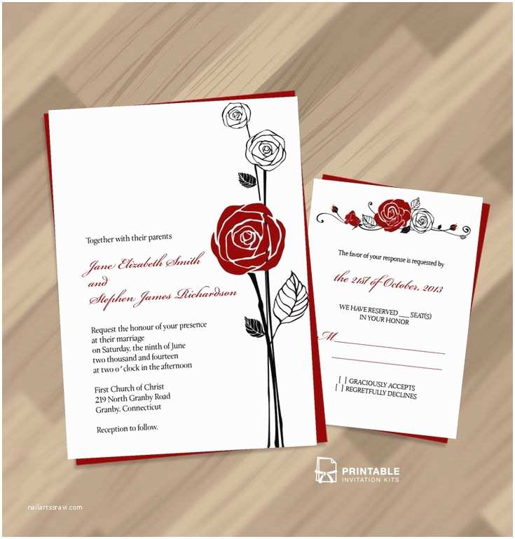 Rose Wedding Invitations 10 Best Images About Red and Black Wedding On Pinterest