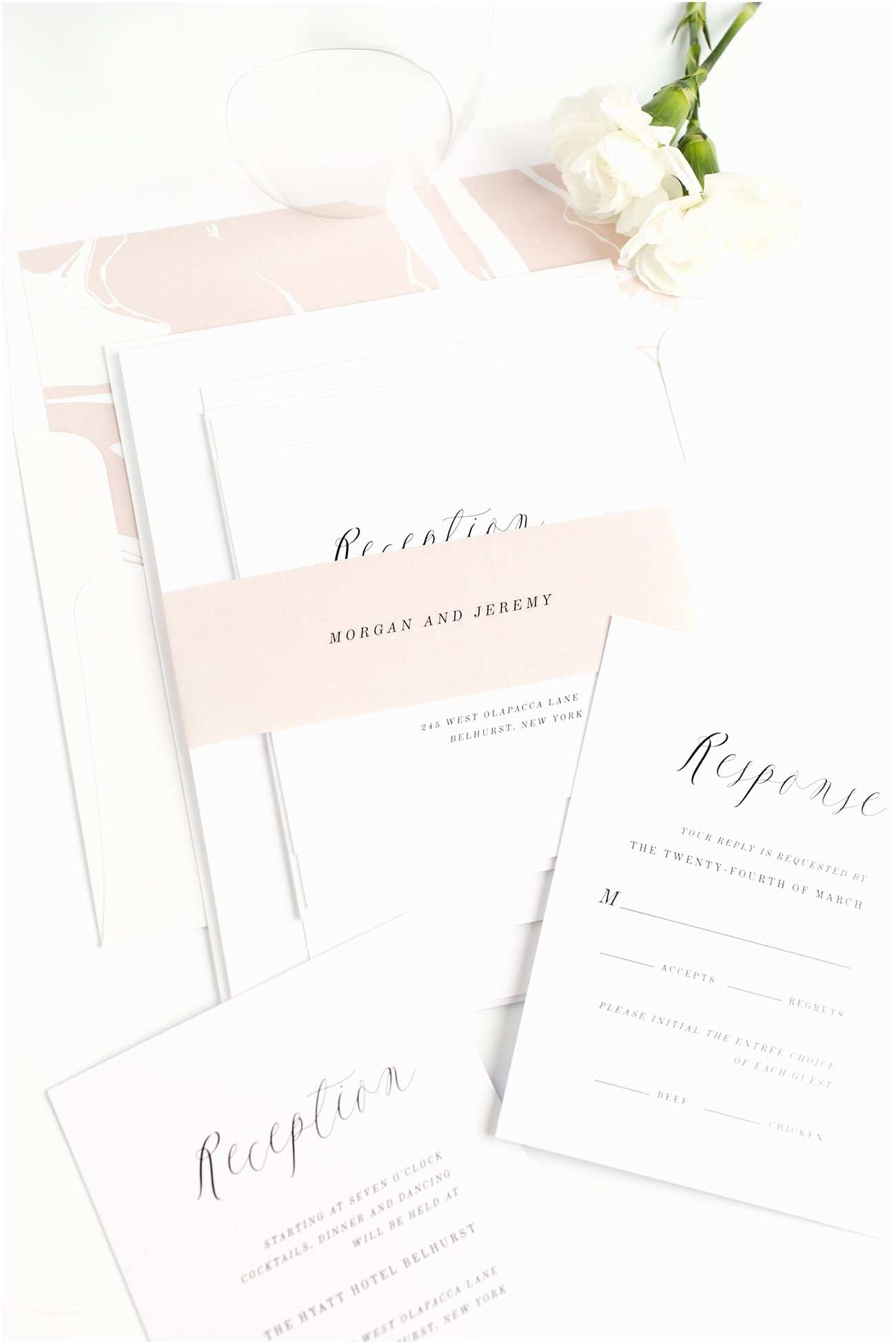 Rose  Invitations Ethereal  Invitations In Rose Gold –