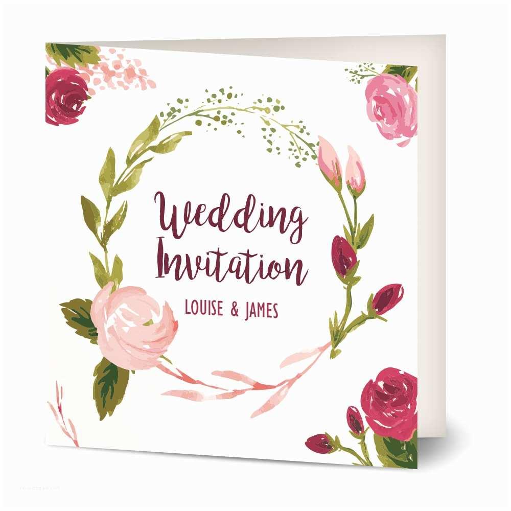 Rose Wedding Invitations Painted Rose Wedding Invitation