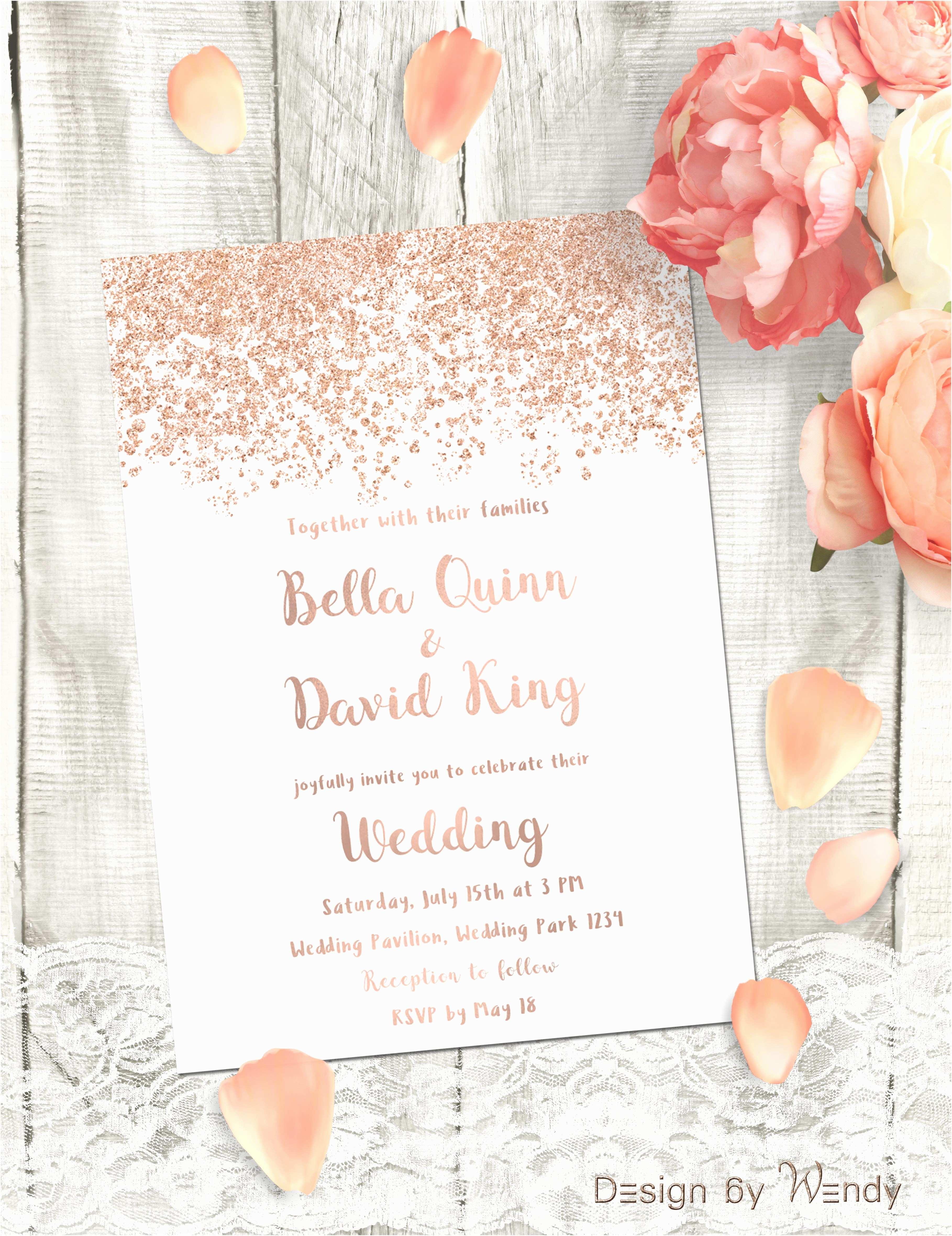 Rose Wedding S Rose Gold Wedding  Simple Printable