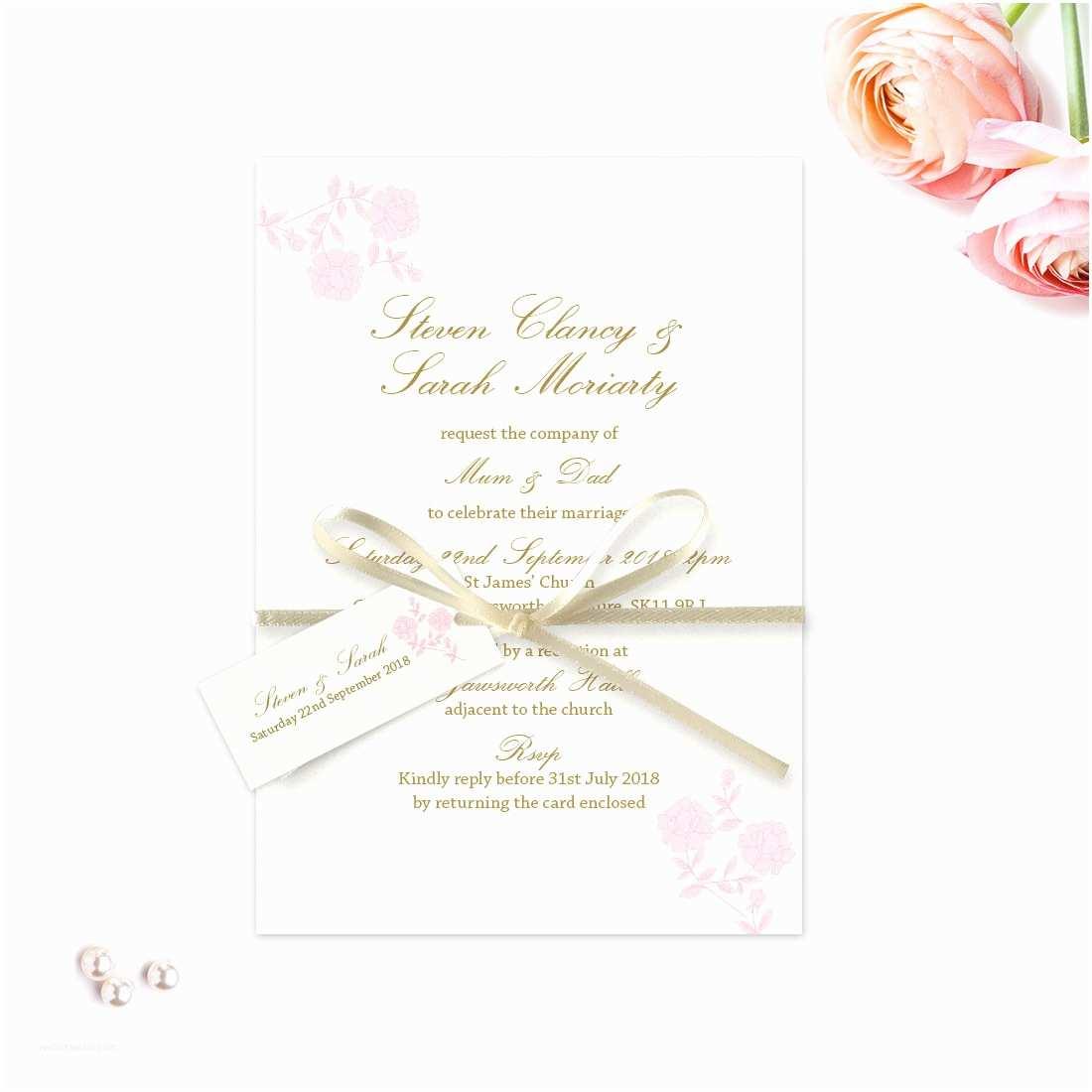 Rose Wedding Invitations Vintage Rose evening Invitation Love Invited Luxury