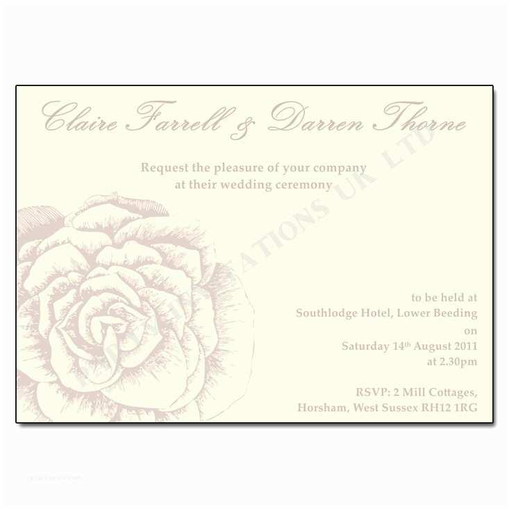 Rose Wedding Invitations Vintage Rose Wedding Invitations