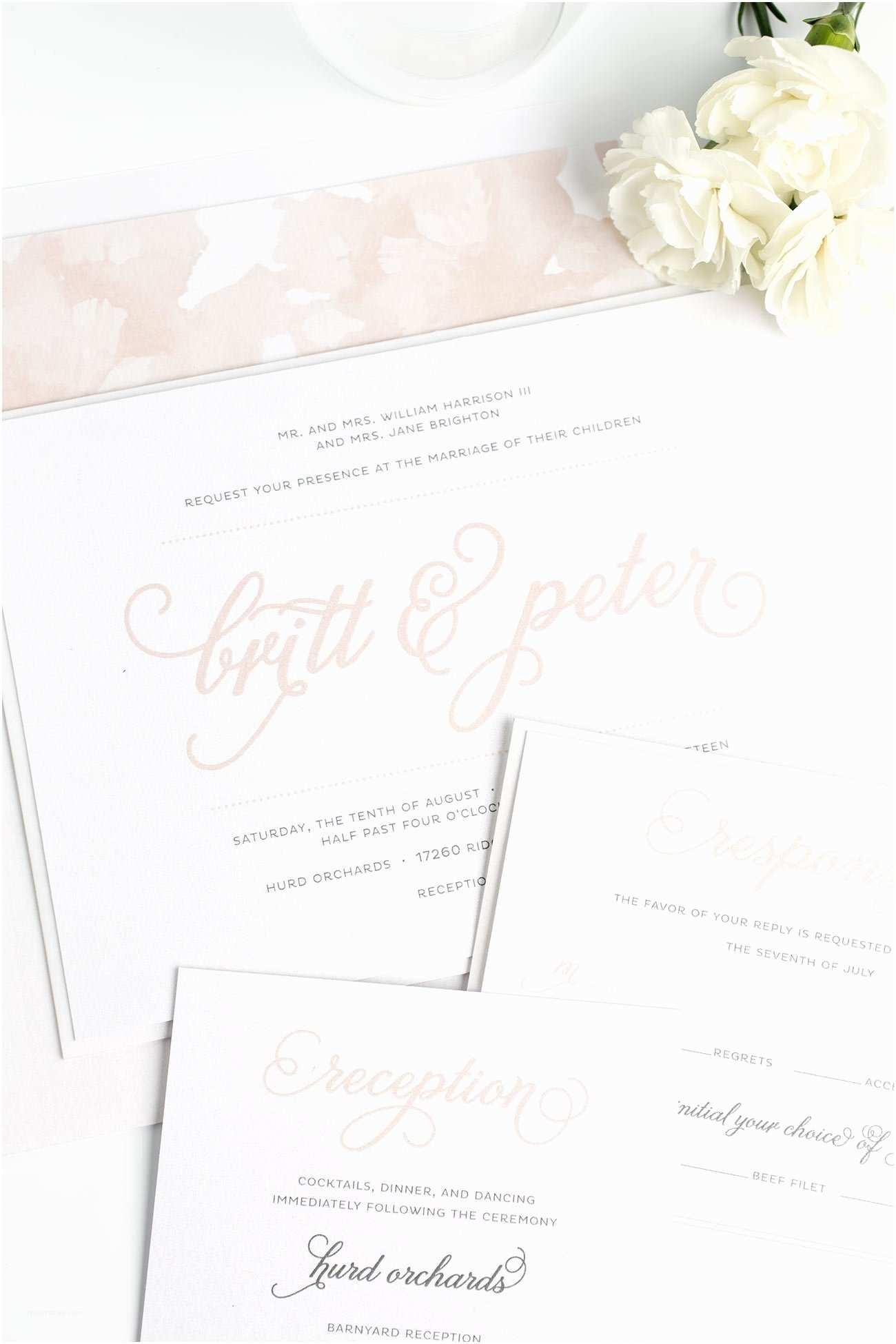 Rose Wedding Invitations Whimsical Wedding Invitations In Rose Gold – Wedding
