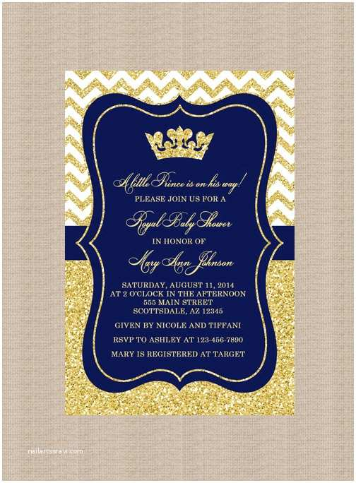 Royal Baby Shower Invitations Prince Baby Shower Invitation Royal Blue Gold Baby Shower