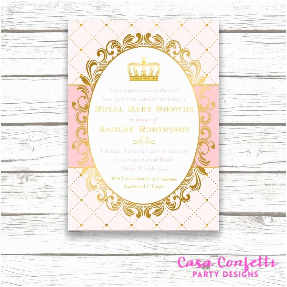 Royal Baby Shower Invitations Princess Baby Shower Invitation Royal Baby Shower