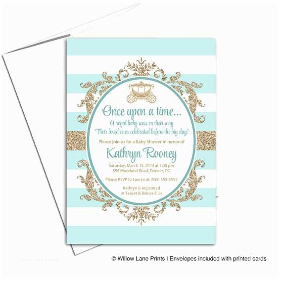 Royal Baby Shower Invitations Royal Baby Shower Invitation Gender Neutral Gold and Mint