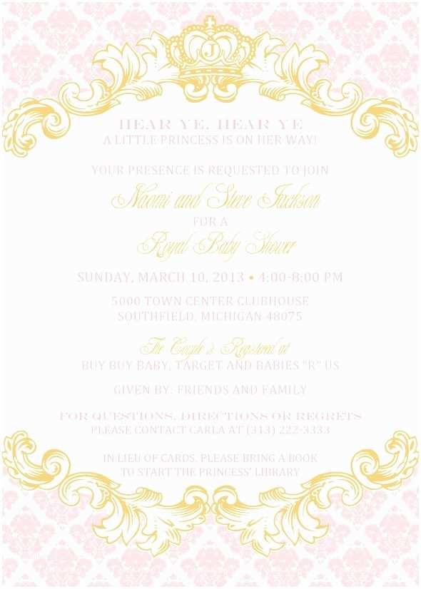 Royal Baby Shower Invitations Royal Invitation Template – Diabetesmangfo