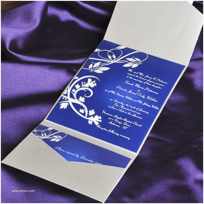 Royal Blue and Black Wedding Invitations Blue Wedding Invitations