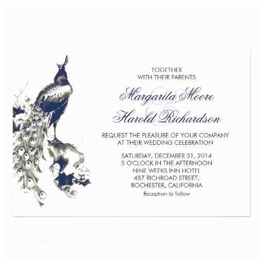Royal Blue and Black Wedding Invitations Royal Blue and Black Peacock White Wedding Invites