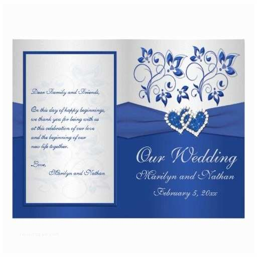 Royal Blue and Black Wedding Invitations Royal Blue and Silver Floral Heart Wedding Invitations