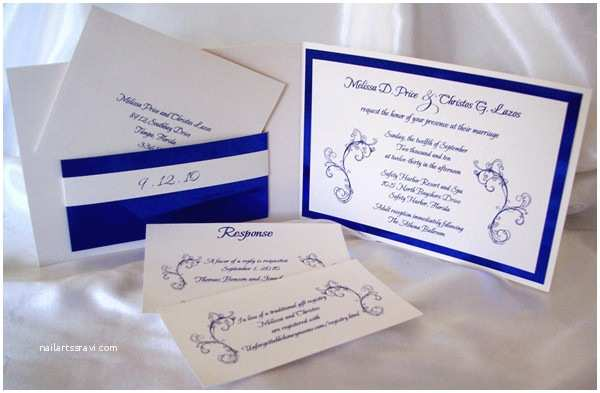 Royal Blue and Black Wedding Invitations Royal Blue Wedding Ideas and Wedding Invitations