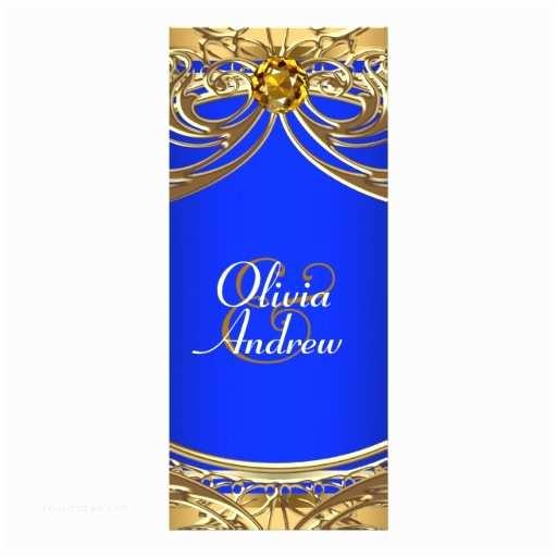 Royal Blue And Gold Wedding Invitations Elegant Royal Blue And Gold Wedding Personalized