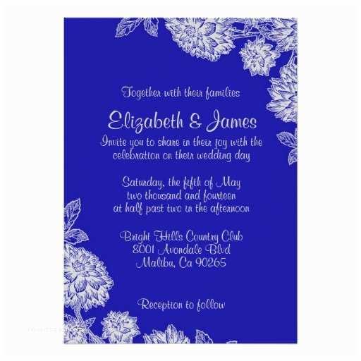 Royal Blue And Gold Wedding  Elegant Royal Blue Wedding