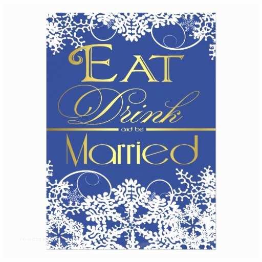 """Royal Blue and Gold Wedding Invitations Royal Blue & Gold Snowflake Wedding Invitations 5"""" X 7"""