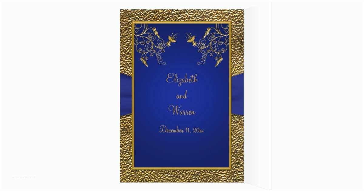 Royal Blue And Gold Wedding Invitations Royal Blue And Gold Card Style Wedding