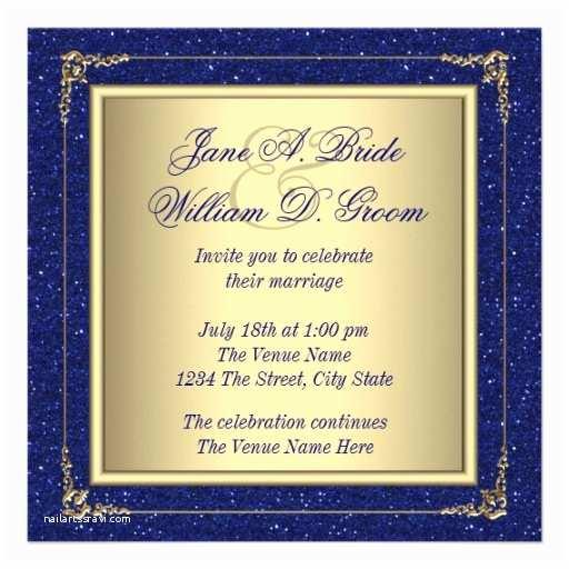 Royal Blue and Gold Wedding Invitations Royal Blue and Gold Wedding Invitations