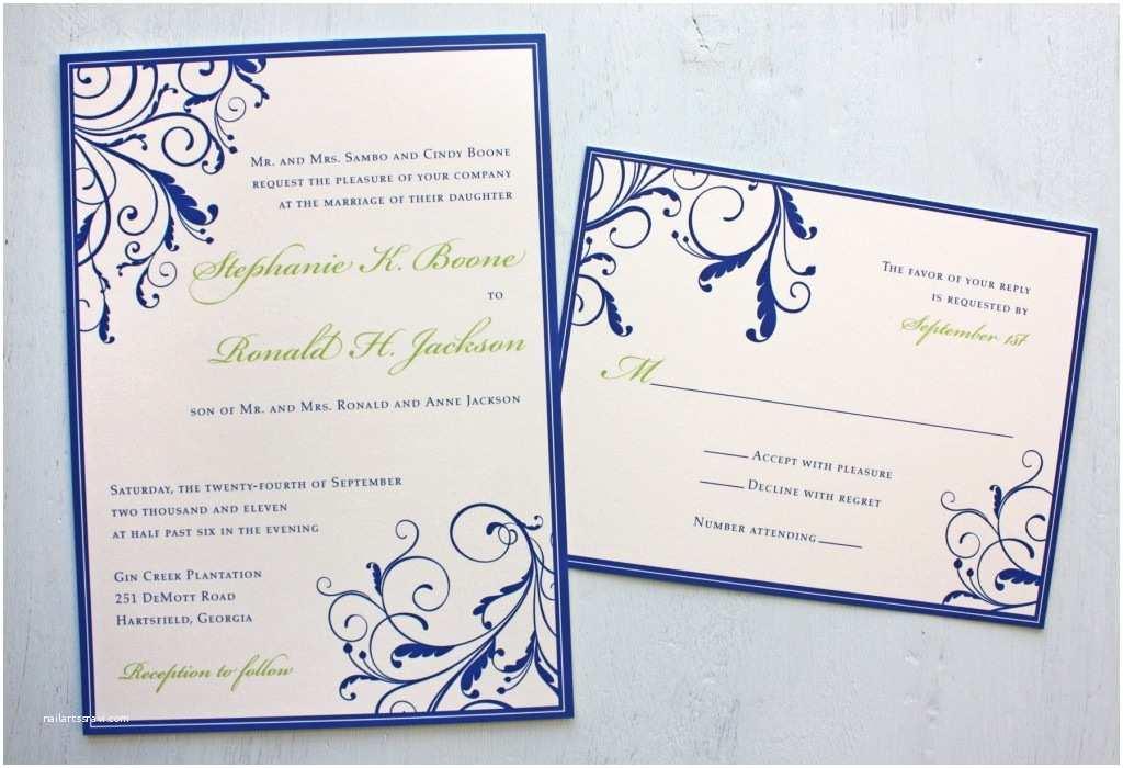Royal Blue And Gold Wedding Invitations Royal Blue Wedding Invitations –