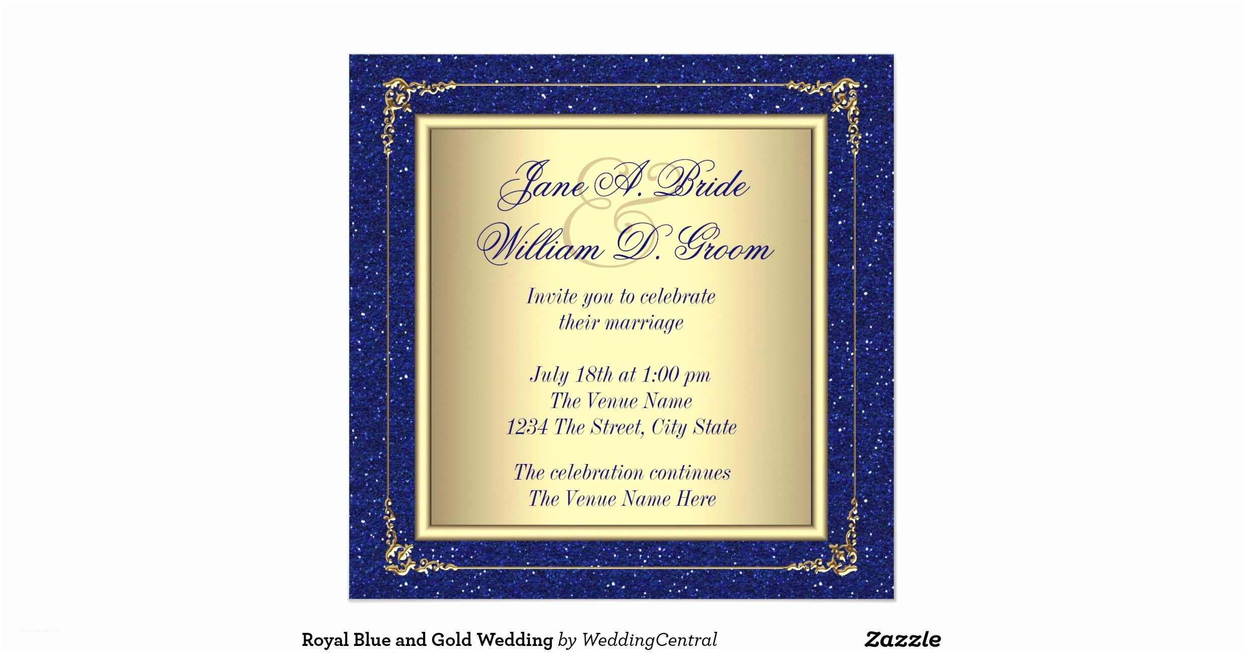 Royal Blue And Gold Wedding Invitations Wedding Invitation Royal Blue And Gold Matik