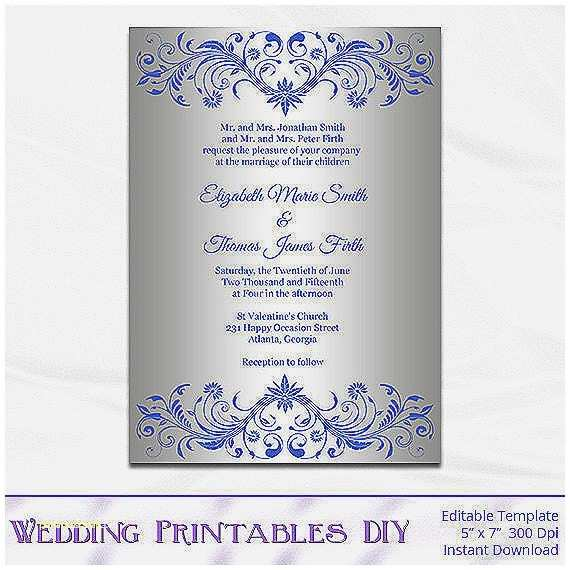 Royal Blue and Silver Wedding Invitations Baby Shower Invitation Best Staples Invitations Baby