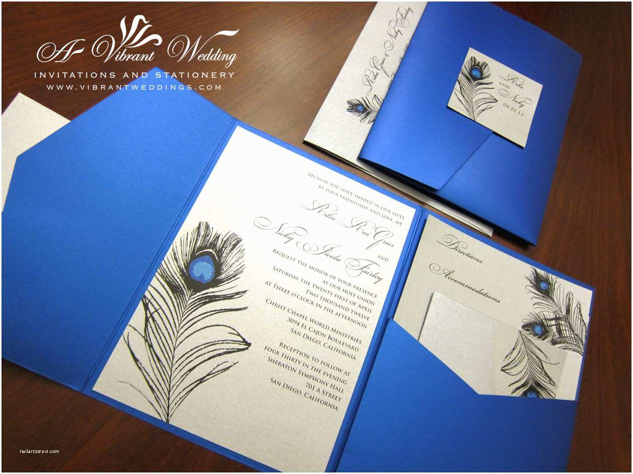 Royal Blue  Invitations Blue And Silver  Invitation – A Vibrant