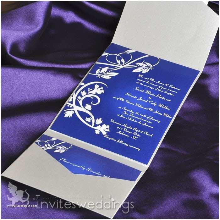 classice royal blue wines pocket wedding invitations iwps068 p 265