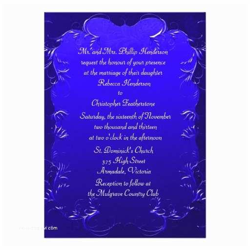 """Royal Blue Wedding S Elegant Royal Blue Wedding  5"""" X 7"""""""